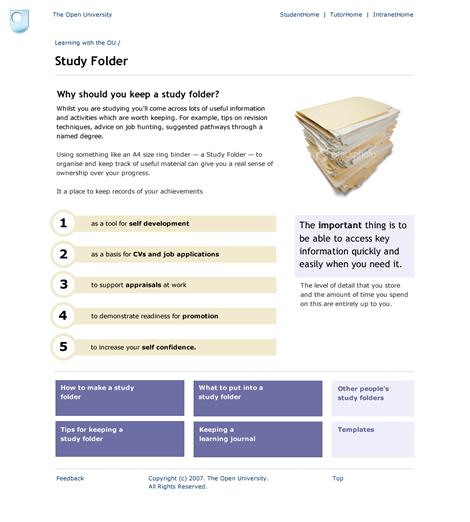 study folder